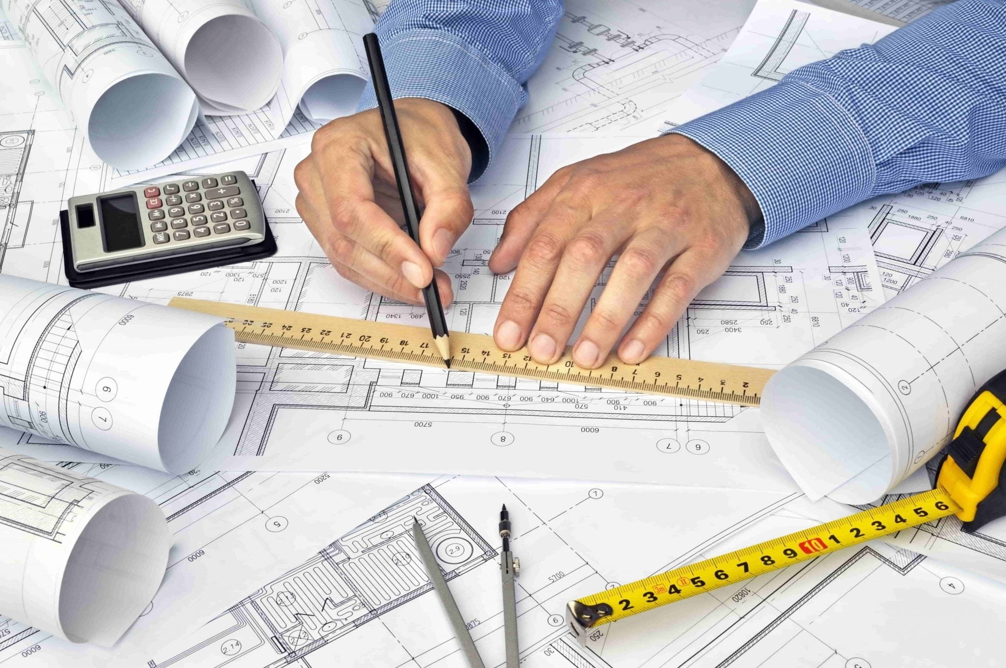 contractor planning building construction