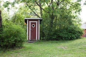 Wooden Outhouse in Greenwich, London