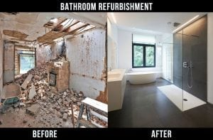 Bathroom refurbishment at Westminster, London SW1A
