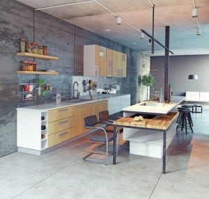kitchen extension at canary warf london