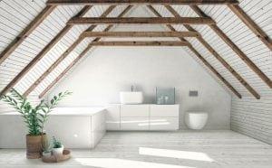 loft converted to modern_bathroom at North Road, Islington, North London N7