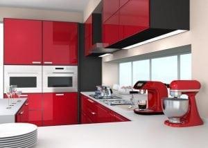 Modern Red Kitchen Refurbishment at W5 Ealing