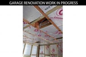 buildingconstructor previous garage renovation work in progress at hammersmith, north london