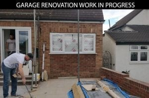 buildingconstructor previous garage renovation work completed at hammersmith, north london