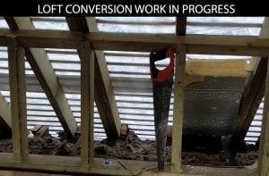 buildingconstructor previous loft conversion work site at hillingdon, north london