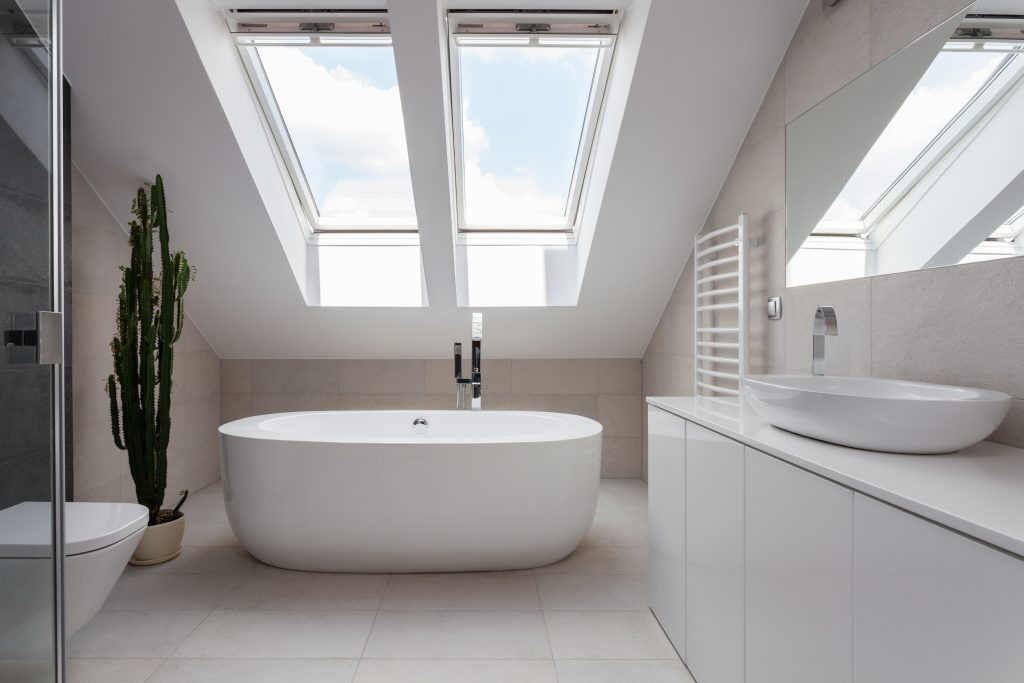 roof light loft conversion made for bathroom