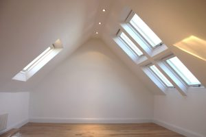 simple roof light loft conversion on display