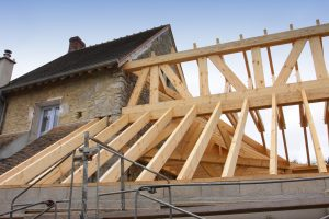 Loft conversion idea being constructed