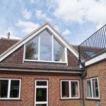 this hip to gable shows outside view of loft conversion