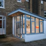 lean to home extension in white pvc