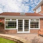 extension on a brick house