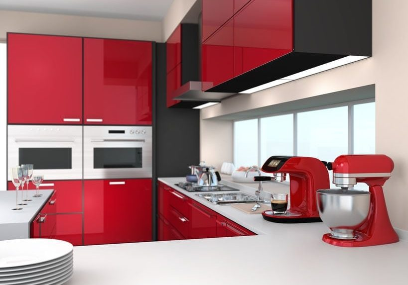 Modern Red Kitchen Refurbishment at W5 Ealing